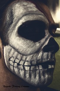 'At the reaper's door' Skull special effects look. Make-up by Bespoke Fantasy Costumes. Photography and edit by Rose-Sky Journey Pieces. Copyright 2016.
