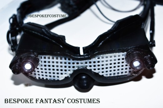 Catwoman mask. Design alterations, 3d printed and made by Bespoke Fantasy Costumes. Photography by Rose-Sky Journey Pieces, 2017.