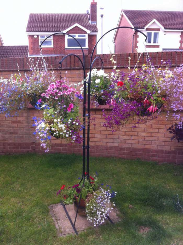 Hanging basket plant stand - bespoke folk on Hanging Stand For Plants  id=49664