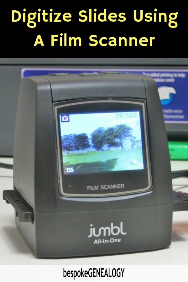 Digitize Slides Using a Film Scanner - Bespoke Genealogy