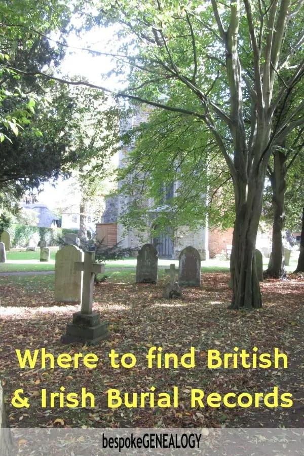 Where to find British and Irish Burial Records - Bespoke