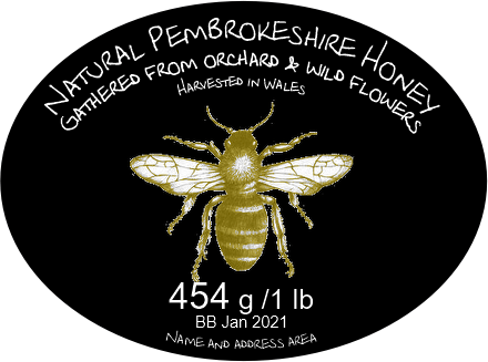 Oval honey label