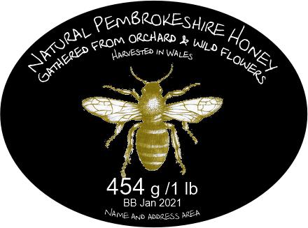 Oval honey label