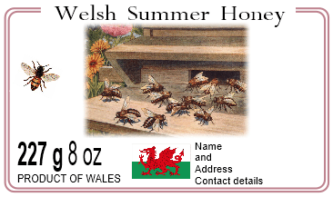 Welsh honey label