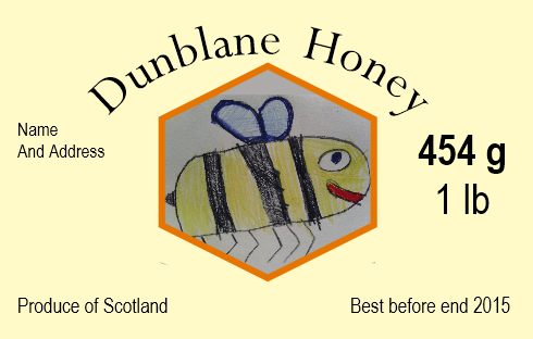 Dunblane honey label