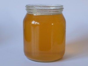 Honey after water heating