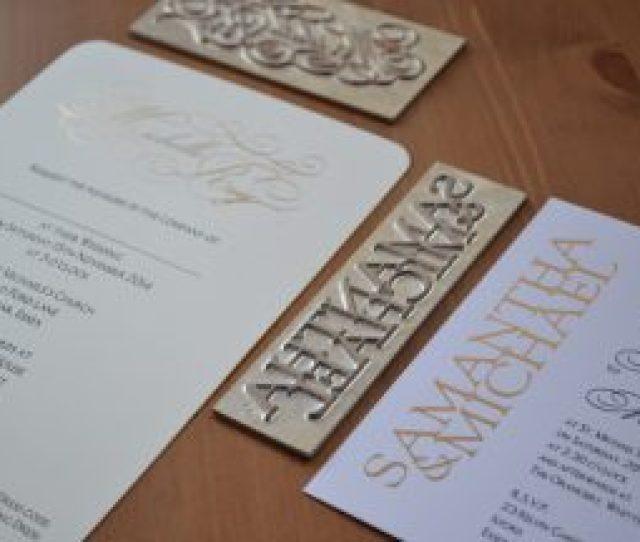 Foiled Wedding Invitations