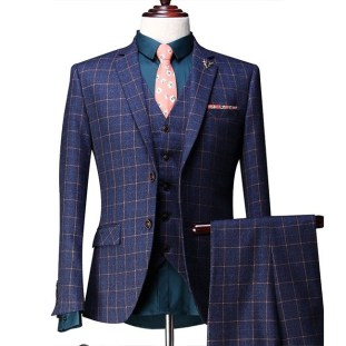custom three-piece suit
