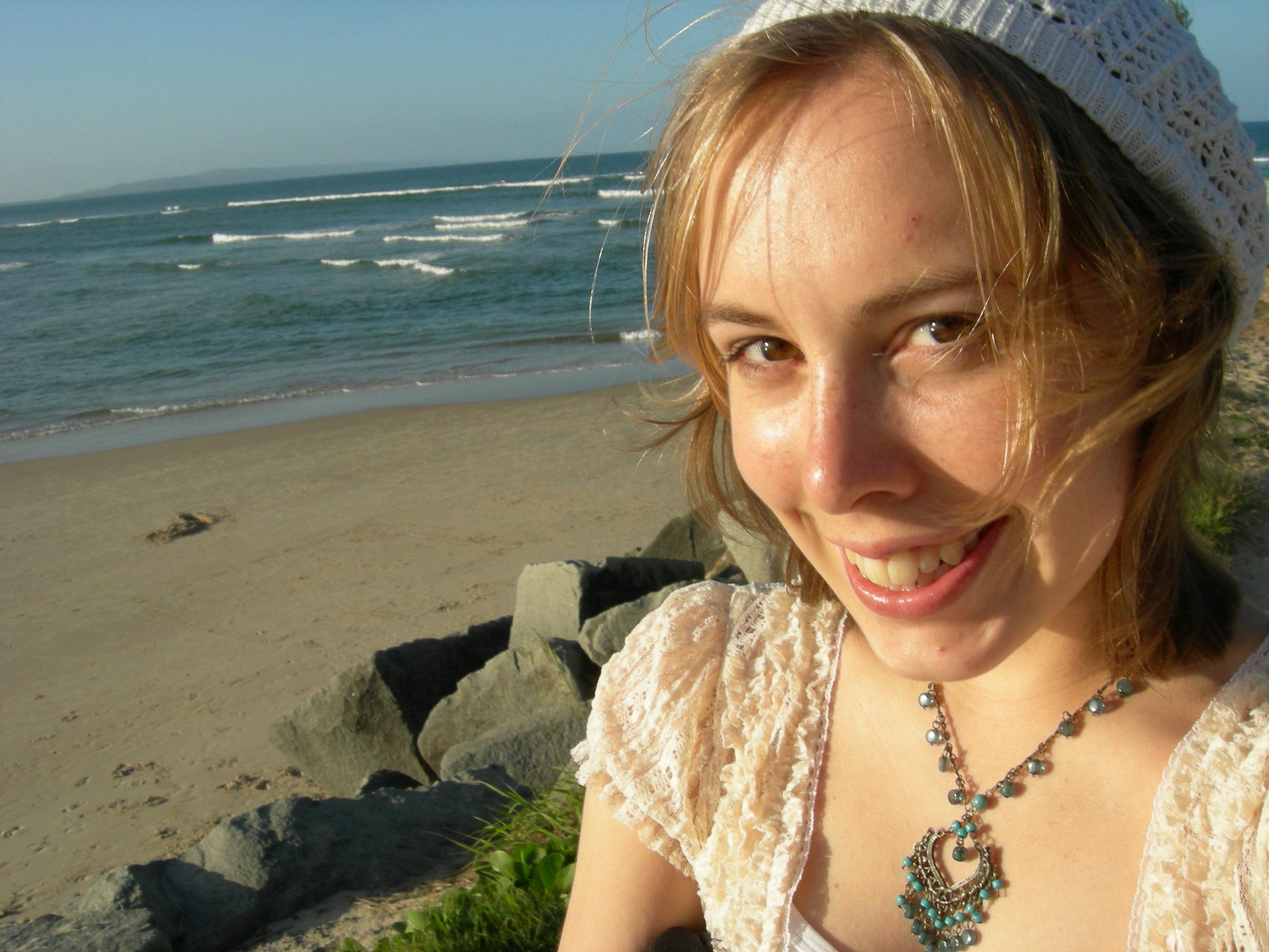 Stranded Gypsy Girl on a stranded beach