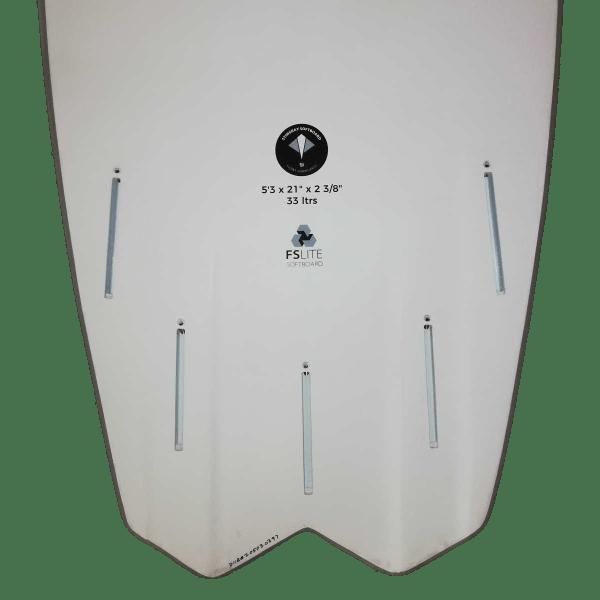 FLOWT Stingray 5'3 - Sommersurfboard