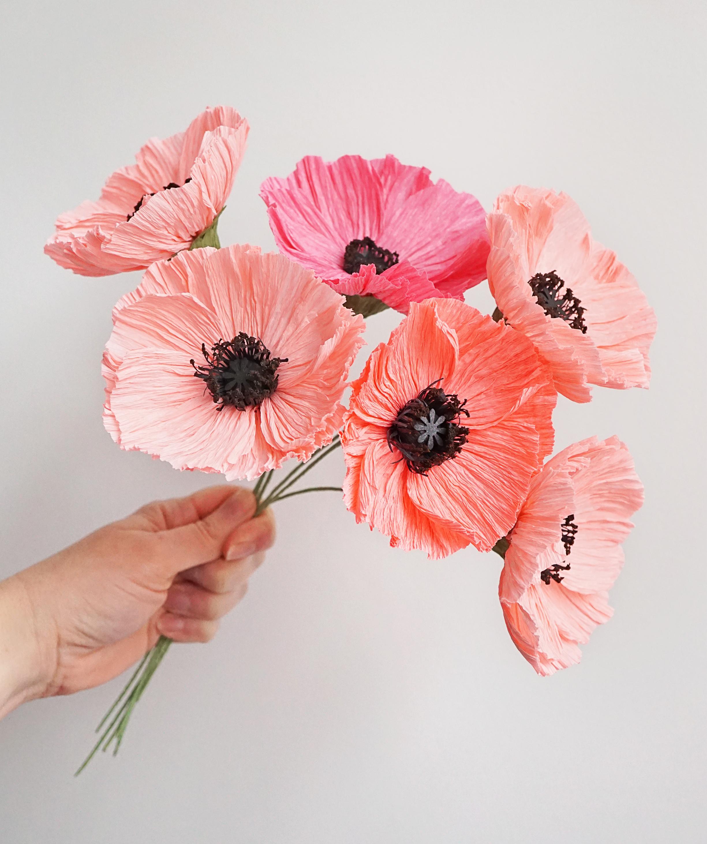 handmade paper poppies