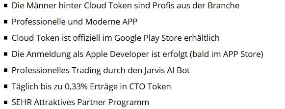 Cloud Token App Erfaharung