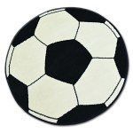 Details About Modern Designs Cheap Bcf Round Rugs Cream Black Football Base Best Carpets