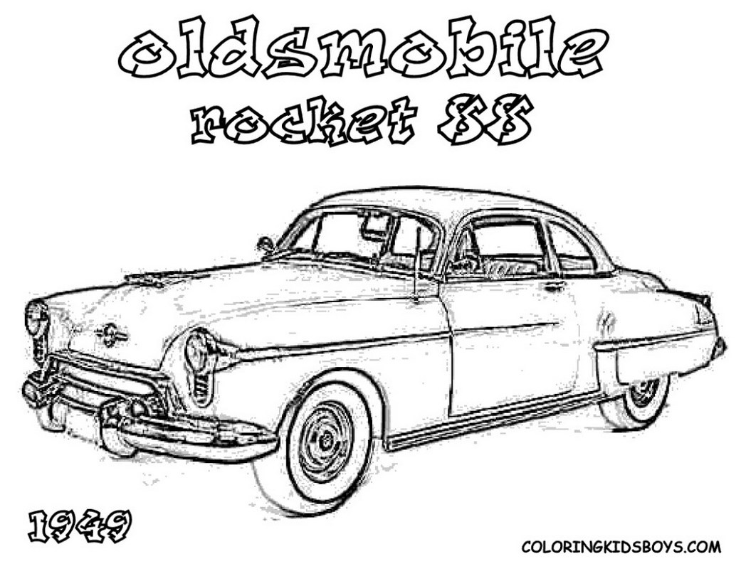 Hot Rod Coloring Pages Sketch Coloring Page