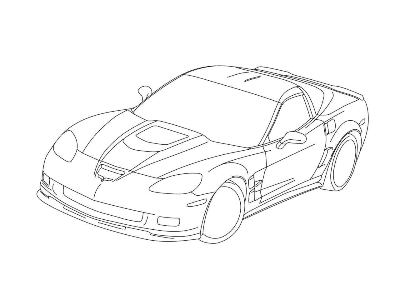 Evs Chevrolet Corvette Coloring Page Corvette Car