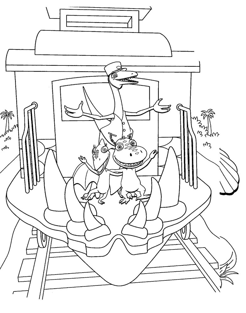 dinosaur train coloring pages