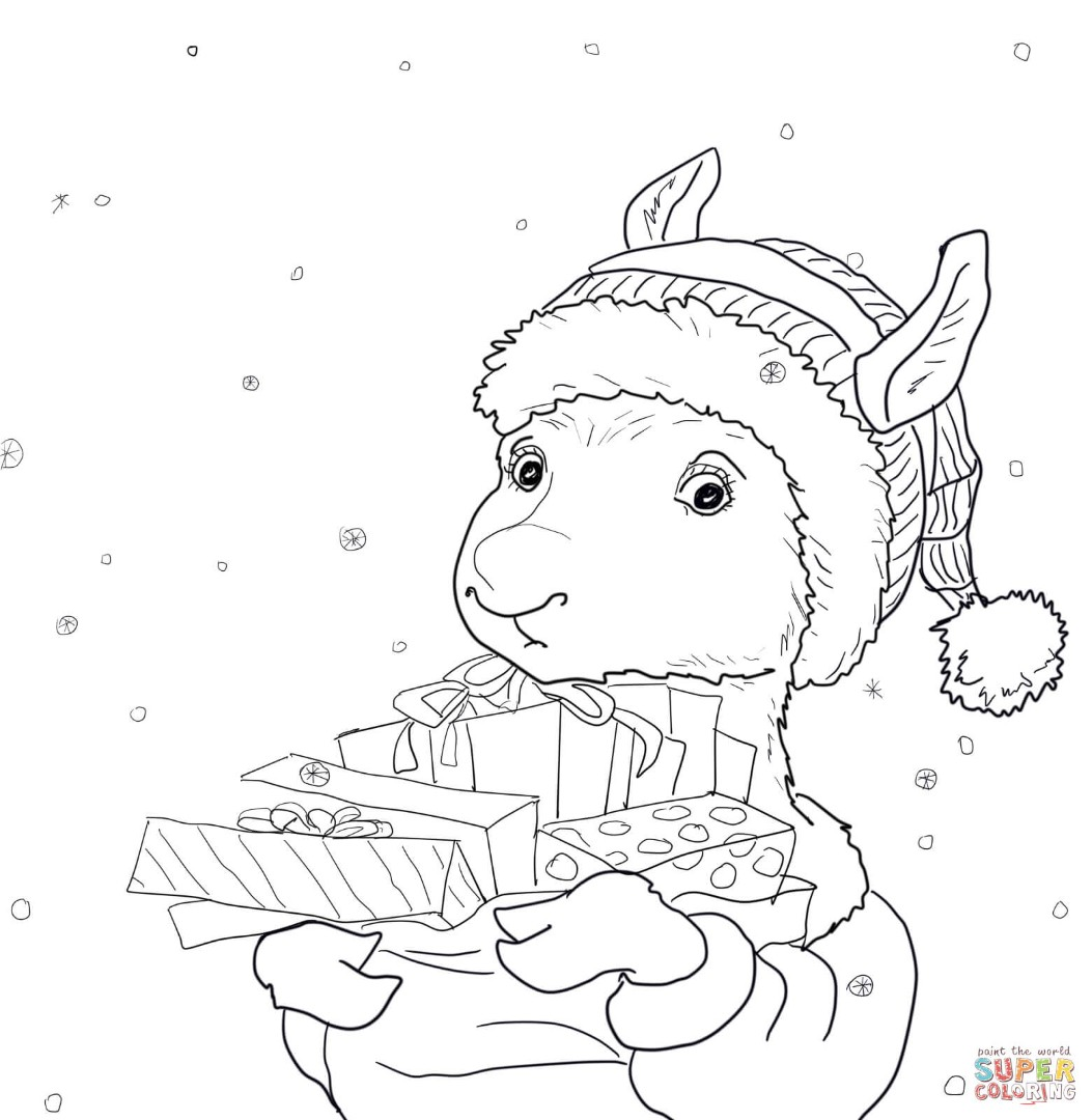 Llama Coloring Pages To Download And Print For Free