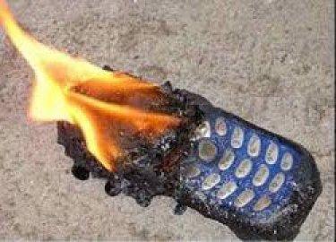 cellphone exploding battery