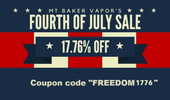 Mt. Baker Vapor 4th sale