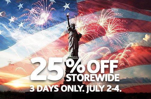 V2 fourth of July sale