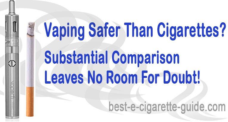Vaping Safer than Cigarettes Study