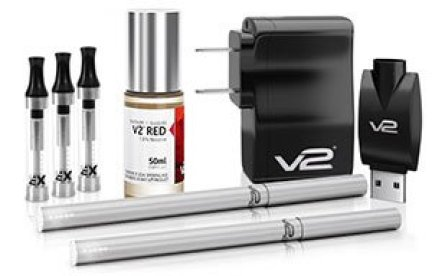 V2 E-Liquid Starter Kit with Ex Blank Cartomizer