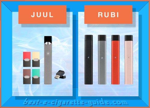 JUUL VS RUBI ecigs best-e-cigarette-guide
