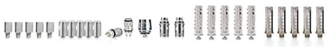 different types of cotton and metal atomizers