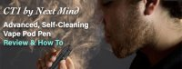 CT1 by Next Mind Vape Pen Review and How To with man smoking and lots of vapor