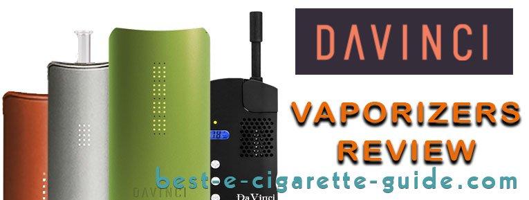 Davinci Vaporizers Review logo and 4 styles of vaporizers