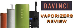 Davinci Vaporizers Review featured image with logo and 4 styles of vaporizers