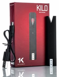 Kilo 1K vape pod pen box, battery and charger