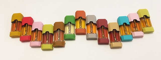 Kilo K1 pods with color caps -best-e-cigarette-guide review