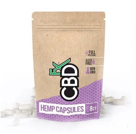 CBDFx Hemp Capsules in bag