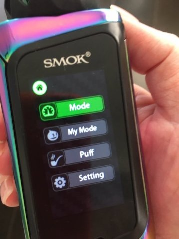 SMOK Morph Mode Setting Screen