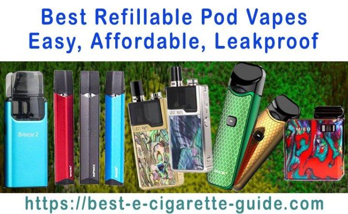 Best Refillable Pod Vapes Title Image