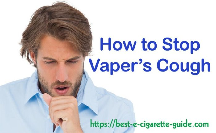 How To Stop Vaper's Cough Title Image with logo