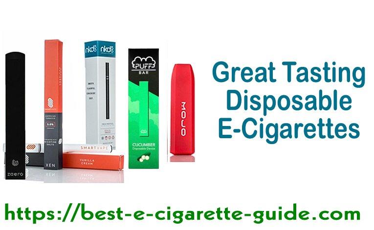 Great Tasting Disposable E-Cigarettes Title Image 2020