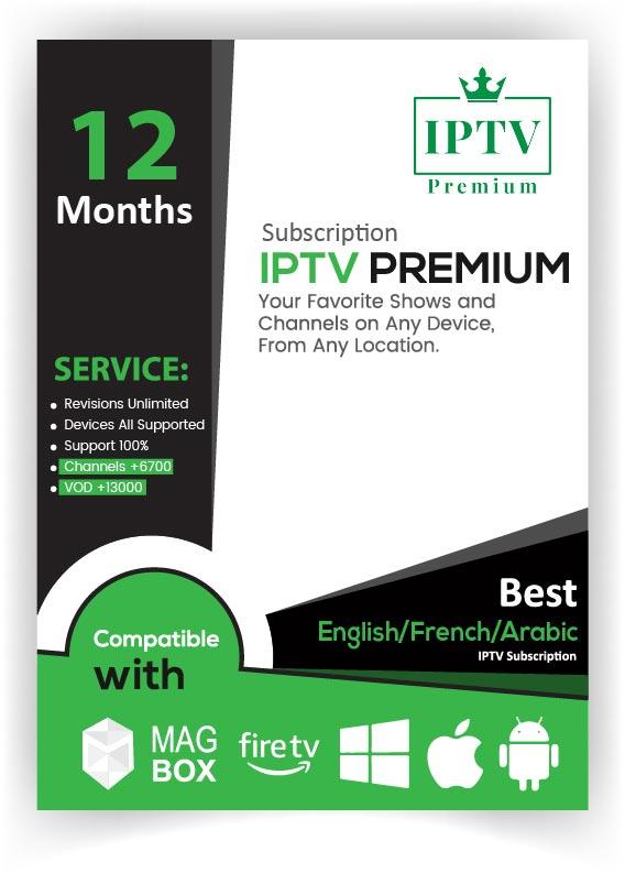 IPTV PREMIUM 12 Months