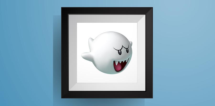 テレサ【マリオワールド】のアイロンビーズ図案! Boo