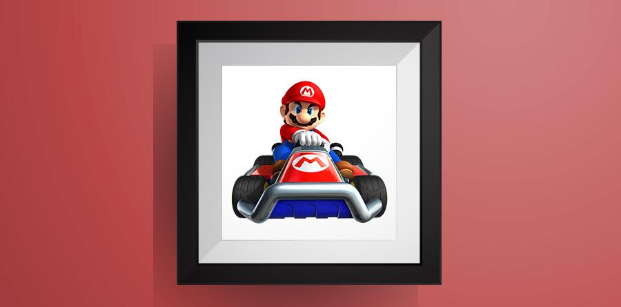 マリオ【マリオカート】のアイロンビーズ図案!Mario - Mario Kart