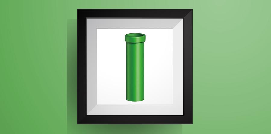 土管(全7色)【マリオワールド】のアイロンビーズ図案 Clay Pipe