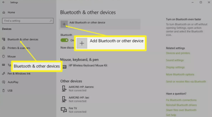Bluetooth or another device