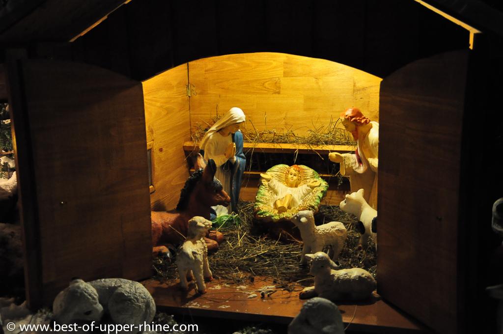 Nativity scene in a garden