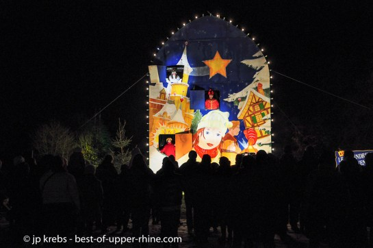 Giant Advent Calendar in Osthouse, Alsace. Christmas Trails 2012.