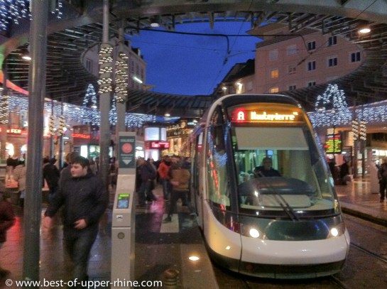the tram is taking you almost everywhere in Strasbourg