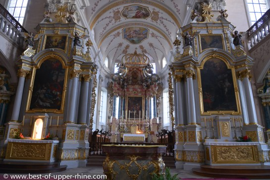 Abbey church of Ebersmunster: altars and choir