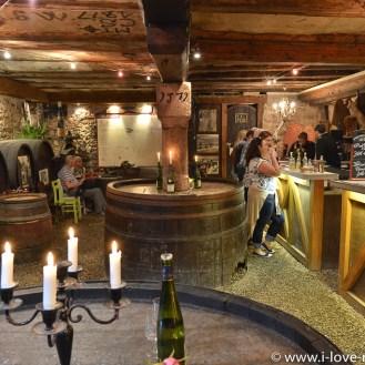 Historical cellar of Maison Zimmer in Riquewihr