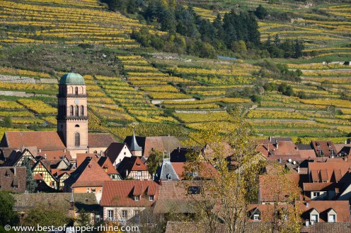 Kaysersberg and its terraced vineyards