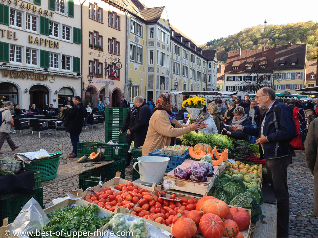 fruit and vegetable market in Freiburg, Germany